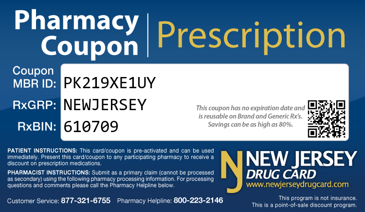 New Jersey Drug Card - Free Prescription Drug Coupon Card